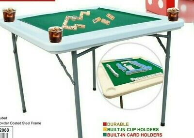 Domino Games Table And For Other Table Games With 4 Cups Drink Holder,Large