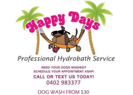 Happy Days Dog Wash Bracken Ridge Sandgate Taigum Fitzgibbon