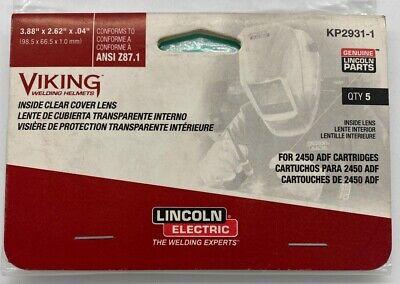 Lincoln Kp2931-1 Viking 2450 5-pack Helmet Inside Cover Lens. Free Shipping