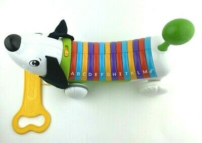 LeapFrog AlphaPUP Alphabet Piano Learning Music Pull Along Dog TOY – Works Great Leapfrog Learn Along Piano