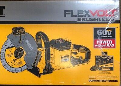 Dewalt Dcs690b 9 Brushless Flex 60 Volt Cut Off Saw W 2 Blades New Concrete Saw