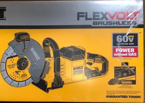 """Dewalt DCS690B 9"""" Brushless Flex 60 volt Cut Off Saw w 2 blades NEW Concrete saw"""