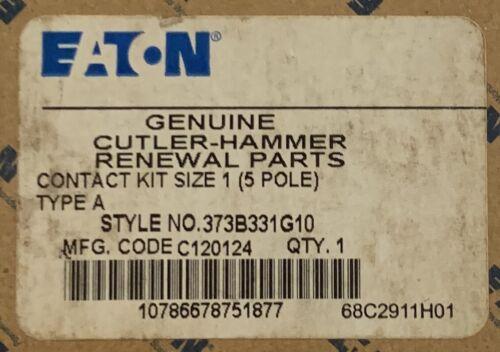 EATON CUTLER HAMMER Size 1 5 Pole A200 Contact Kit 373B331G10