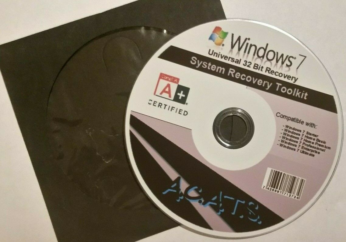 Windows 7 32/64 bit universal Recovery/Repair DVD AIO