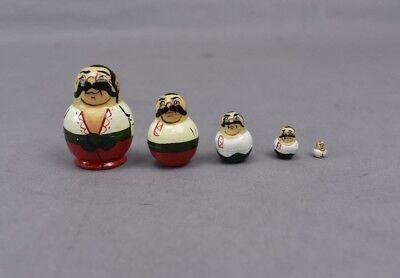 Russian Nesting Dolls Set of 5 Russian Man Very Small