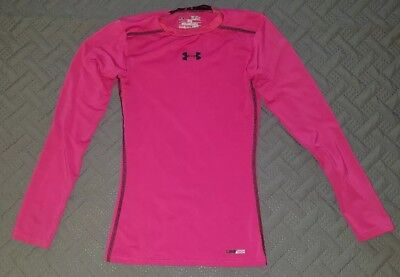 Breast Cancer Awareness Gear (Under Armour Boys Sz Ysm Breast Cancer Awareness Pink Fitted Heat Gear)