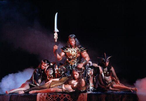 Conan the Barbarian 1982 Arnold Schwarzenegger as Conan Photo - CL1076