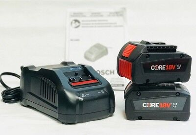 Core Power Tools (Bosch CORE18V 6.3 Ah Lithium-Ion Starter Kit with 2 Batteries GXS18V02N24)