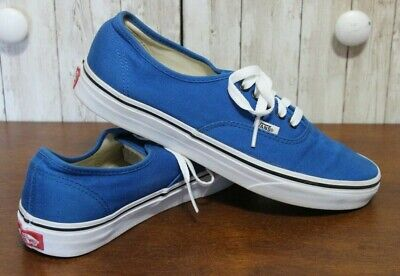 VANS AUTHENTIC ROYAL BLUE/ WHITE OFF THE WALL MENS SIZE 8 WOMENS 9.5