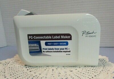 Brother P - Touch Pt-1230pc Pc-connectable Label Maker