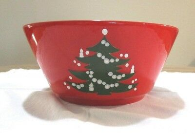 Waechtersbach Germany Red Christmas Tree Serving Bowl 9 inch