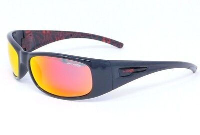Arnette HOLD UP Sunglasses AN4139-15 2140/6Q Black:Red accents/ Red Mirror (Arnette Shades)