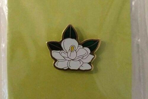 Southern Dixieland Magnolia Blossom Lapel Pin Soft Enamel Hat Pin