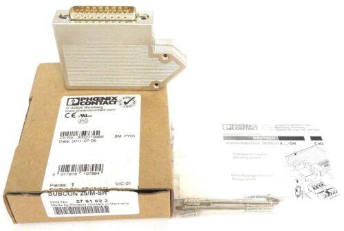NIB PHOENIX CONTACT 2761622 SUBCON 25/M-SH CONNECTOR