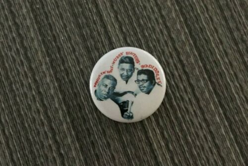 HOWLIN WOLF Muddy Waters BO DIDDLEY Blues Legends Button Pin Badge