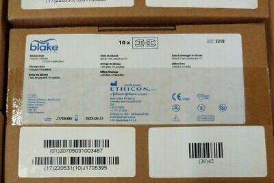 Blake Ethicon Silicone Drain Ref 2210 Box Of 10