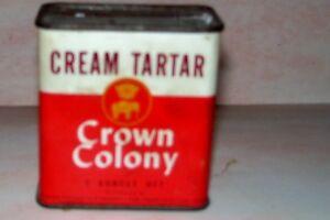 Vintage-Crown-Colony-Cream-of-Tarter-Spice-Tin-Charter-Co-San-Francisco-CA