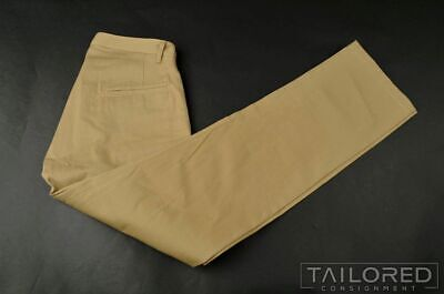 NEW - E. TAUTZ SAVILE ROW Beige Khaki Cotton Mens Luxury Pants Trousers - 32