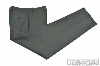 KITON Solid Gray CASHMERE WOOL Mens Luxury Pants Trousers - EU 48 / US 32 Mens Luxury Wool Cashmere