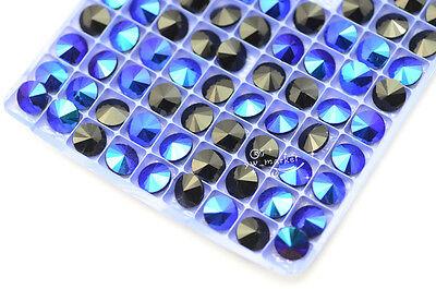 strass 100 PCS 12mm  Black Purple Faceted Glass Rivoli Jewels stones dress diy