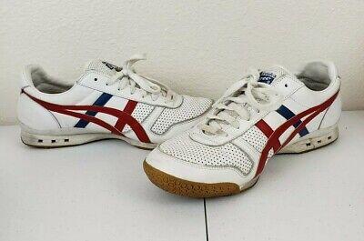 ASCIS Onitsuka TIGER Ultimate 81 HL211 Shoes White Red/Blue Sz 10 VTG