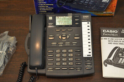Casio Phonemate Si460 4-line 12 Station System Business Telephone System