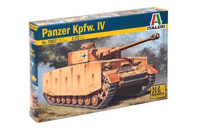 Italeri 1:72 - 7007, Panzer Kpfw. IV, Modellbausatz unbemalt,Plastikmodellbau