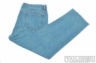A.P.C. Solid Blue 100% Cotton Mens Denim Pants Jeans - 35