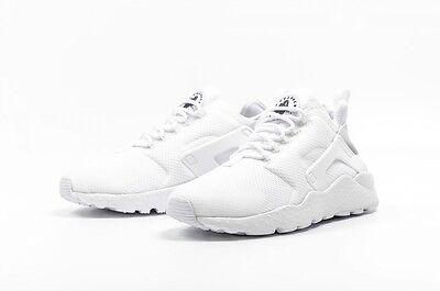 Nike Air Huarache Run ULTRA Womens Running Shoes Size 7 White Black 819151 101