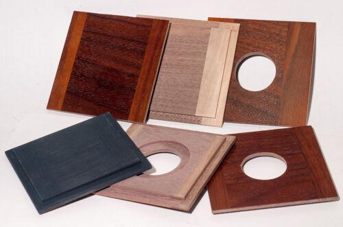 "1  LENS BOARD3.75""x 3.75"" (95x95mm)TYPE ""B"" - for GRAFLEX - Solid Wood/free hole"