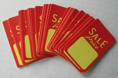 50 Sale Price Redyellow Tags-1-34 X 2-78 Unstrung-sz.8-merchandisegarment