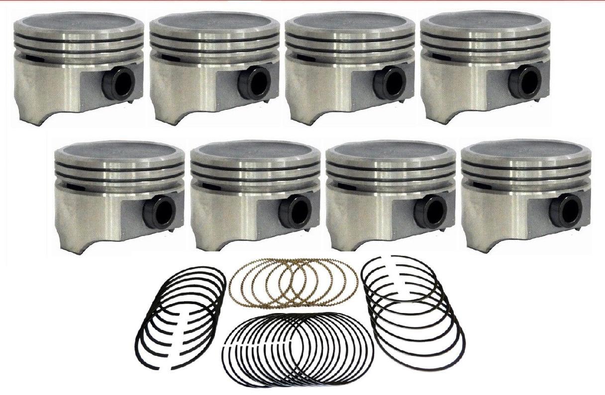 engine piston sealed power np set    cast rings  chevy ebay