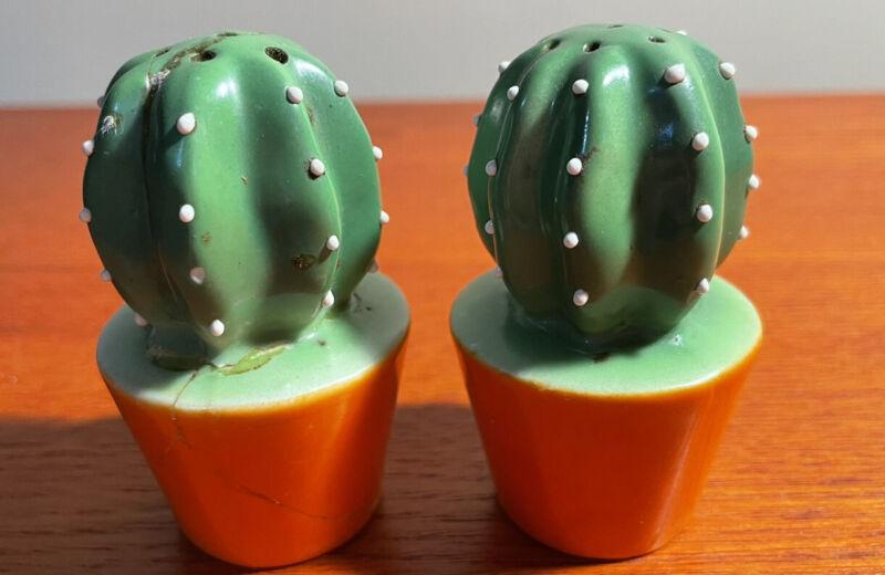 Cactus Salt and Pepper Shaker Set Made in Japan