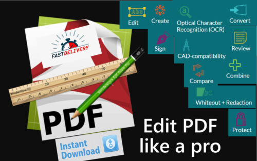 ✔ Acrobat Alternative PDF Pro Creator-Editor-Reader-Viewer-Converter