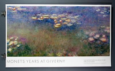 Claude Monet, Years at Giverny Water Lilies, Metropolitan Museum of Art Poster