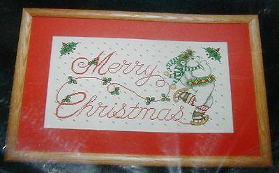 POLAR BEAR MERRY CHRISTMAS Counted CS Kit  HTF 14