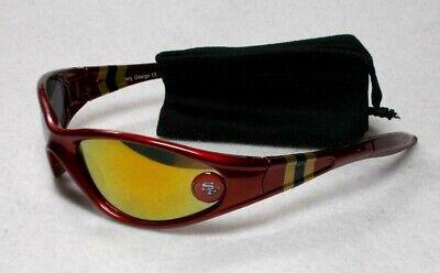 Read Listing! San Francisco 49ers XL LOGO on Sleek Wrap Sunglasses. 2 Pc (San Francisco Sunglasses)