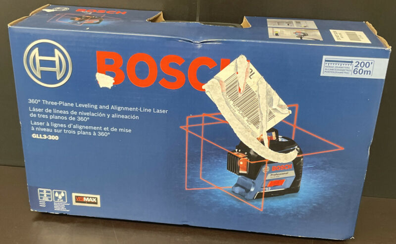 Bosch GLL3-300 360 Three-Plane Leveling And Alignment-Line Laser