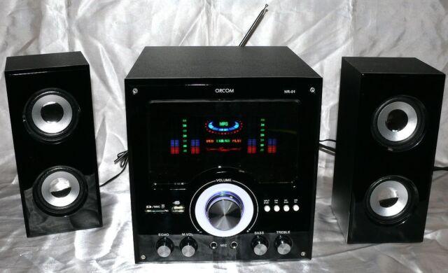 ORCOM NR01 2.1 Anlage Music Center USB SD CARD AUX FM Radio Karaoke FB B1