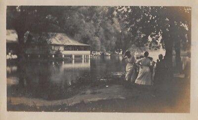 Vtg ca 1920s PHOTO WOMEN GATHER LAKE CAMP SUMMER EDWARDIAN DRESS FASHION S23 for sale  Endicott