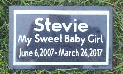 CUSTOM ENGRAVED STONE PET MEMORIAL HEADSTONE DOG CAT GRAVE MARKER PLAQUE  Memorial Stone Marker