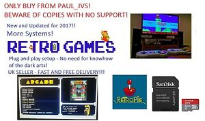 Raspberry Pi 2/3  64GB Retropie Retro Gaming Micro SD Card - Configured