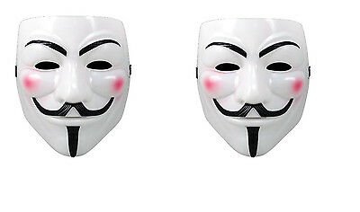 V For Vendetta Movie Costume Mask Guy Fawkes Anonymous Halloween Cosplay 2pc ](Halloween Costumes For 2 Guys)