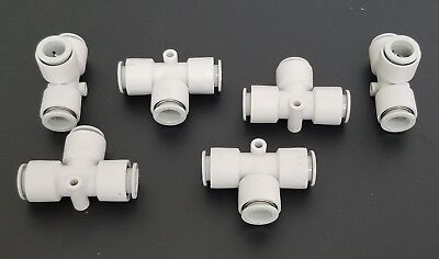 Lot Of 6 New Smc T-fittings