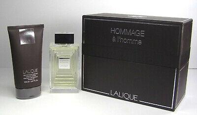 Lalique Hommage A L'Homme Gift Set 2 Pc EDT 3.3 oz 100 ml