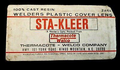 Vintage Sta-kleer 100 Cast Resin Welders Plastic Cover Lens In Package 2x4 14