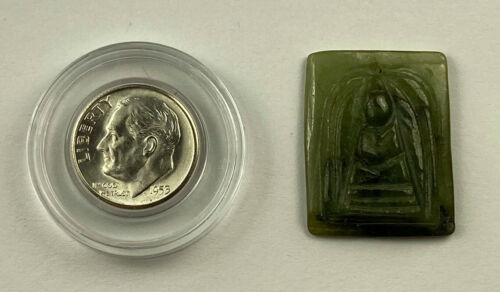 Carved Buddha Jade Amulet from Thailand