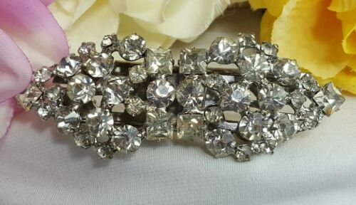 Vintage Estate Silver Art Deco Designer Scarf Duette Clip Brooch Pin