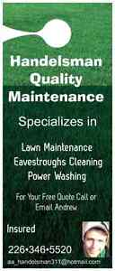 Lawn Cutting, Eavestrough Cleaning, Power Washing, Aeration Windsor Region Ontario image 2