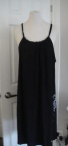 Women Dress by ADDITION ELLE shoulder strap Slip Black Size 2X